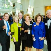 Bob Grooters, Betsy Hasse, Art Hasse, Sharie Grooters and guests at the Enrichment Dinner